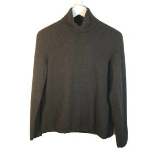 Magaschoni Cashmere Brown Turtleneck Sweater
